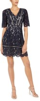 Vince Camuto Short-Sleeve Lace Fit & Flare Dress