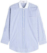 Brunello Cucinelli Cotton Blend Shirt with Embellished Collar