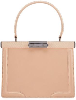 Alaia Cecile Small Framed Top-Handle Bag