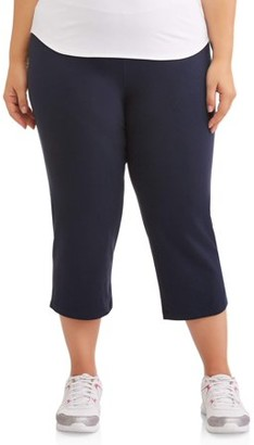 "Athletic Works Women's Plus Size Dri More 22"" Core Capri"