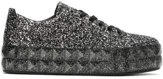Emporio Armani glitter platform sneakers