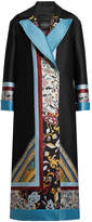 Etro Printed Coat with Wool