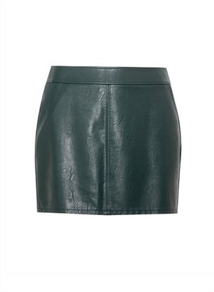 Dorothy Perkins Womens Dp Curve Green Pu Mini Skirt, Green