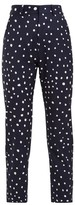 Charles Jeffrey Loverboy Polka Dot-print Wool Trousers - Womens - Navy Multi
