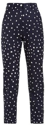 Charles Jeffrey Loverboy Polka-dot Wool Trousers - Navy Multi