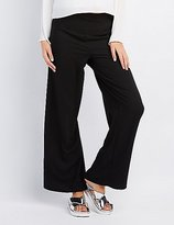 Charlotte Russe High-Waisted Wide-Leg Pants