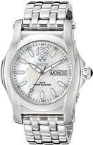 REACTOR Women's 24mm 'Curie Mid' Stainless Steel Watch Band, Color:Silver-Toned (Model: 90005)