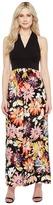London Times Branch Flower Matte Jersey Maxi