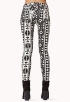 Forever 21 Tribal Print Denim Skinny Jeans