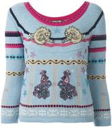 Roberto Cavalli 'circus' patches embellished pullover