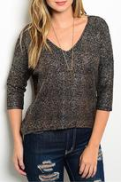 Adore Clothes & More Black Bronze Top