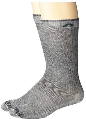 Wigwam Merino Comfort Hiker Lite 2-Pack (Navy II) Crew Cut Socks Shoes