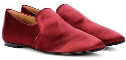 The Row Alys satin slippers