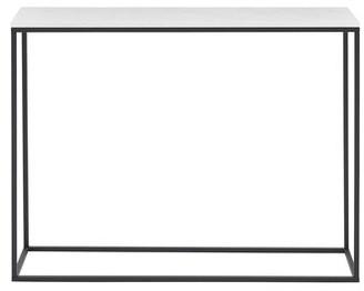 """Foundstoneâ""""¢ Dorian 42"""" Console Table Foundstonea Color: White Marble/Black"""