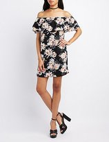 Charlotte Russe Floral Off-The-Shoulder Ruffle Dress