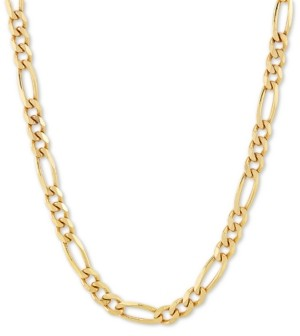 "Giani Bernini Figaro Link 18"" Chain Necklace in 18k Gold-Plated Sterling Silver"