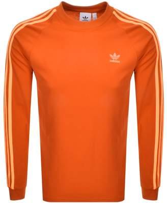 adidas Long Sleeved T Shirt Orange