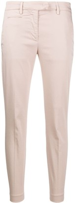 Dondup Tapered Cropped Cotton Blend Trousers