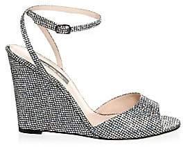Sarah Jessica Parker Women's Boca Glitter Wedge Sandals