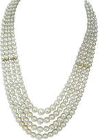 One Kings Lane Vintage Multi-Strand Glass Pearl Necklace