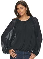 JLO by Jennifer Lopez Women's Lined Dolman Top