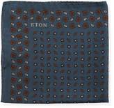 Eton Diamonds Silk Pocket Square