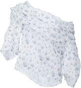 Rosie Assoulin floral print one-shoulder blouse