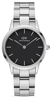 Daniel Wellington Black Dial Stainless Steel Link Bracelet Watch, 28mm-32mm