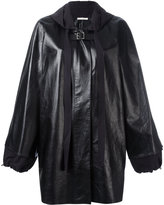 Celine oversized anorak with buckle fastening - women - Calf Leather/Polyester - 36