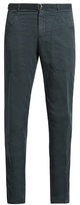 Boglioli Slim-leg Cotton And Linen-blend Trousers
