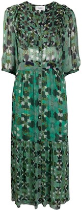 BA&SH Hooper geometric-print dress