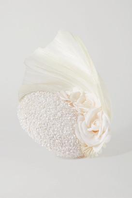 Merve Bayindir Rosalind Sequin-embellished Tulle And Pinokpok Fascinator - White