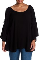 Hip Bell Sleeve Blouse (Plus Size)
