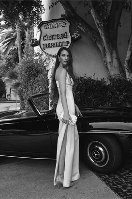 Monique Lhuillier Bridesmaids ML Monique Lhuillier Doutzen V-Neck Jumpsuit