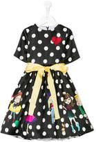 Love Made Love girls and polka dot print dress