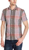 Perry Ellis Men's Large Chambray Plaid Shirt