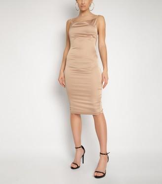 New Look NaaNaa Satin Cowl Neck Midi Dress
