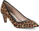 French Connection Kornelia Leopard-Print Calf hair Pumps