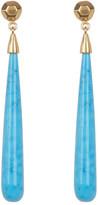 Argentovivo 18K Gold Plated Sterling Silver Turquoise Teardrop Earrings