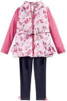 Nannette 3-Pc. Floral Vest, T-Shirt & Leggings Set, Toddler Girls (2T-4T) & Little Girls (2-6X)