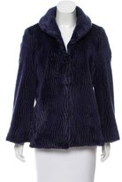 Alice + Olivia Structured Faux Fur Coat