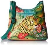 Anuschka Handpainted Leather Large Organiser Jungle Leopard