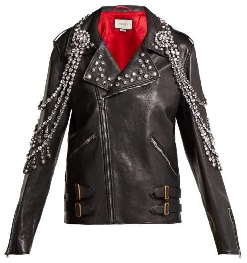 0d38fc34b8da Gucci Women s Leather Jackets - ShopStyle
