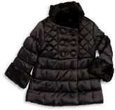 Jessica Simpson Girls 2-6x Faux Trimmed Quilted Coat