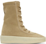 Yeezy Taupe Suede Crepe Boots