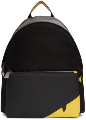 Fendi Black Bag Bugs Mono Eye Backpack