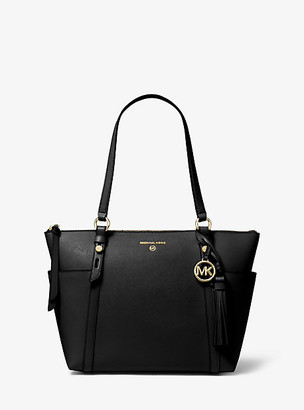 Michael Kors Nomad Medium Saffiano Leather Top-Zip Tote Bag
