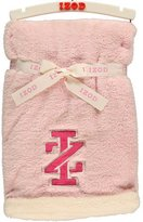 "Izod Contrast Logo"" Plush Blanket - pink/ivory, one size by"