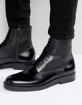 HUGO BOSS BOSS By Mono Leather Lace Up Boots