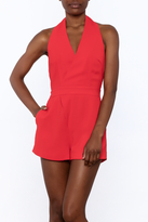 Do & Be Red Sleeveless Romper